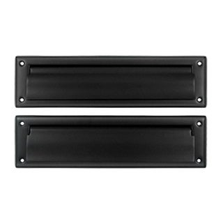 Deltana 13.12 in. Mail Slot with Interior Flap #44; Black - Solid
