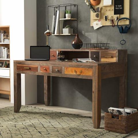 Furniture of America Rudd 55-inch Solid Wood Office Desk