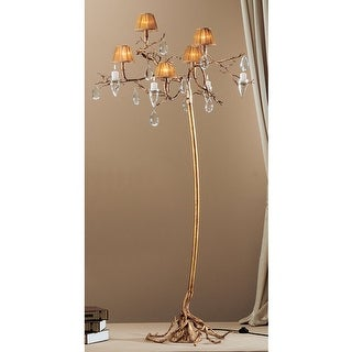 Classic Lighting 10025 Morning Dew 5 Light Tree Floor Lamp with Crystal Accents - natural bronze
