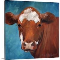 Cheri Wollenberg Premium Thick-Wrap Canvas entitled Chocolate Cow