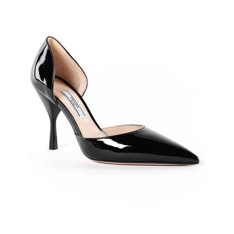 PRADA Patent Leather D'orsay Pump Shoes Black