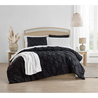 Royal Treatment Pintuck Black Bed in a Bag
