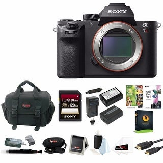 Sony Alpha a7RII Mirrorless Digital Camera with Power Battery (2) and Charger & 128GB SDXC Accessory Bundle