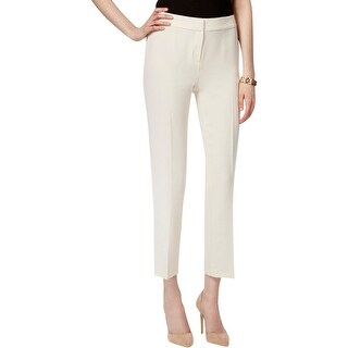 Kasper Womens Kristy Dress Pants Crepe Slim Fit