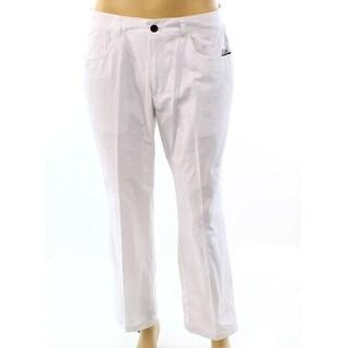 INC NEW White Bright Mens Size 30X30 Straight Leg Regular Fit Pants