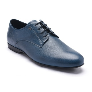 Versace Collection Men's Leather Oxford Lace-Up Dress Shoes Blue