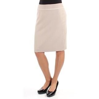 Womens Beige Wear To Work Skirt Size 2