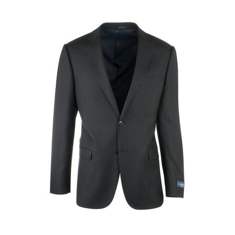 Zegna Ermenegildo Cloth Superfine Wool Black Jacket by Canaletto Menswear
