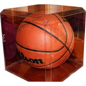 Basketball unsigned Clear Display Case