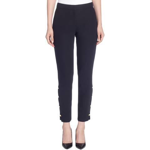 CATHERINE CATHERINE MALANDRINO Womens Dress Pants Slim-Leg Embellished
