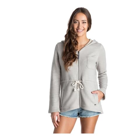 Roxy Womens Everyday Good Hoodie Sweatshirt, Grey, X-Small