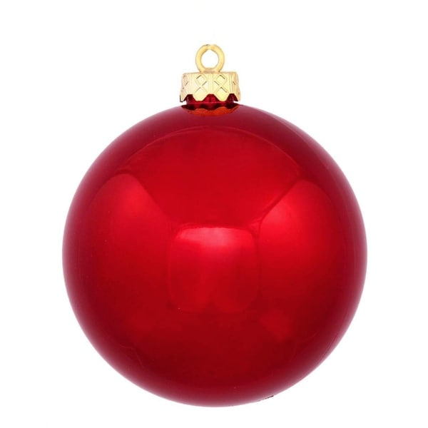 """Commercial Shatterproof Shiny Red Hot Christmas Ball Ornament 8"""" (200mm)"""
