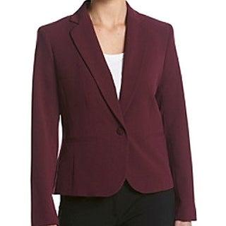 Nine West NEW Red Womens Size 14 Notch Collar One Button 2 Pocket Blazer