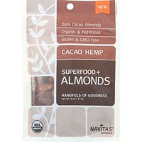 Navitas Naturals Almonds - Organic - Superfood Plus - Cacao Hemp - 4 oz - case of 12