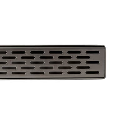 """ALFI brand 47"""" Stainless Steel Linear Shower Drain with Groove Holes"""