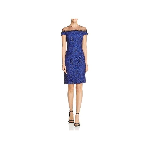 8d426c97f1 Carmen Marc Valvo Womens Semi-Formal Dress Lace Beaded - 8 - Free ...