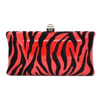 Ehp7011  Zebra Print Evening Bag-Red