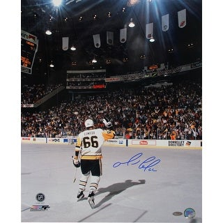 Mario Lemieux Skating Towards Crowd Vertical 16x20 Photo
