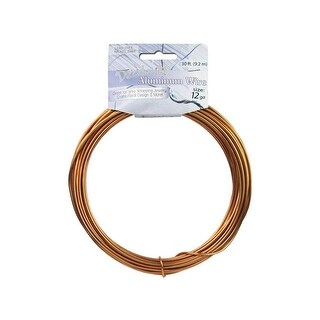 Dazzle It Aluminum Wire 12ga Rnd 30ft Light Copper