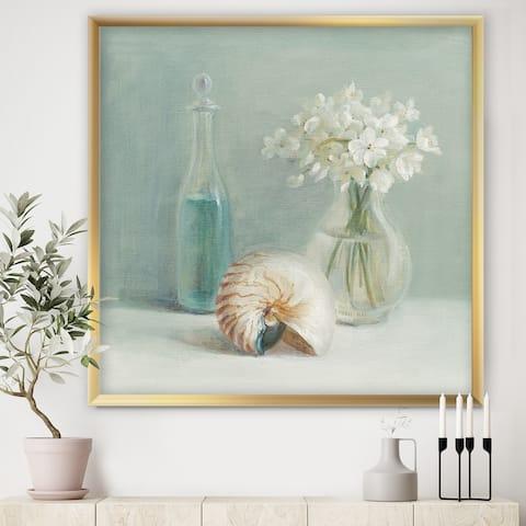 Designart 'Pastel Bath IV' Farmhouse Framed Art Print