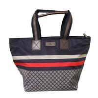 Gucci Unisex Blue Nylon Diamante Travel Tote Handbag 267922 8611 - Medium