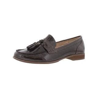 Steve Madden Womens Franco Loafers Patent Tassel