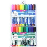 Tulip Fabric Markers Fine & Brush Tip 25/Pkg-Assorted