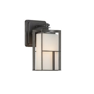 Designers Fountain 31811 1 Light Outdoor Wall Lantern from the Braxton Collection - Charcoal