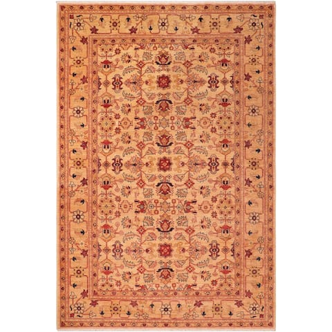 """Bohemien Ziegler Carlyn Hand Knotted Area Rug -6'3"""" x 9'0"""" - 6 ft. 3 in. X 9 ft. 0 in."""