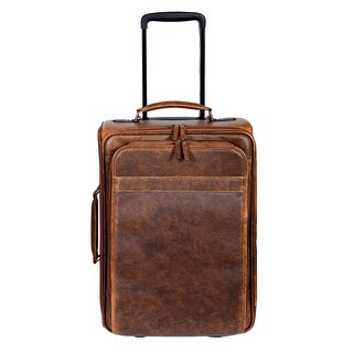 Scully Western Carry On Bag Aerosquadron Leather Wheeled Walnut