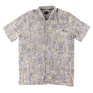 Jack O'Neill Mens Button-Down Shirt Tropics Printed
