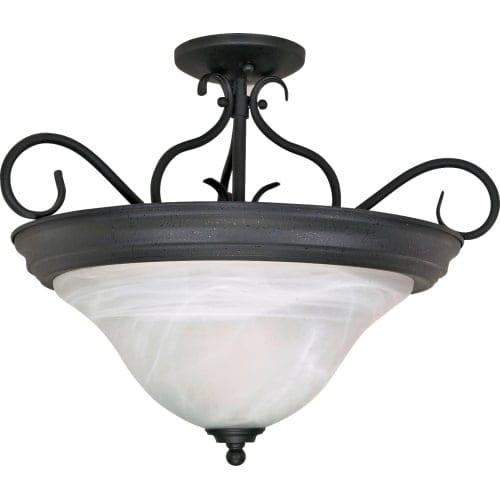 "Nuvo Lighting 60/384 Castillo 3 Light 18-1/2"" Wide Semi-Flush Bowl Ceiling Fixture"