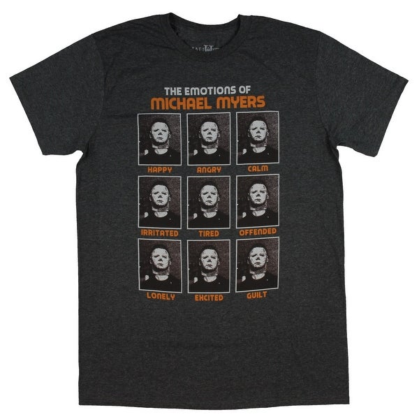 ccd0be8bf Shop Halloween Horror Movie The Emotions Of Mike Myers Men's T-Shirt - On  Sale - Free Shipping On Orders Over $45 - Overstock - 27368307