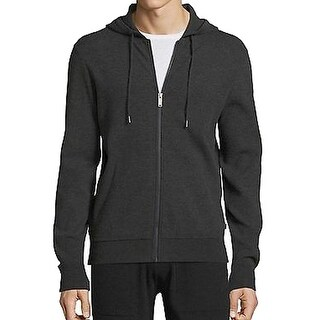 Michael Kors NEW Gray Men's Size Large L Full Zip Hooded Sweater