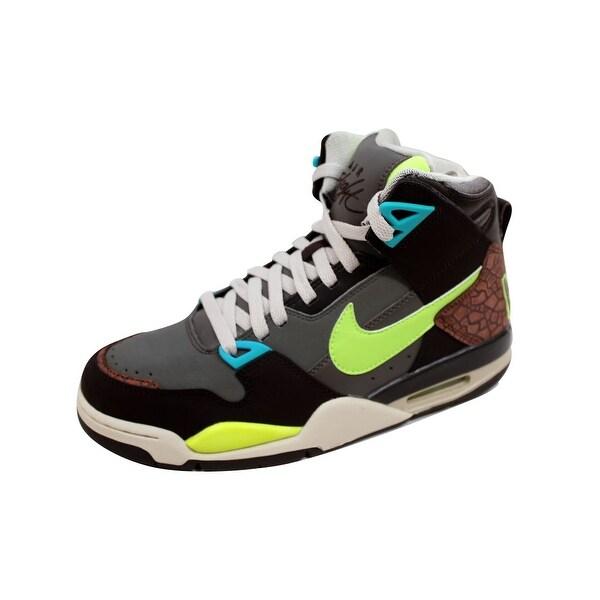 Nike Men's Air Flight Condor High Dark Cinder/Volt-Smoke-Birch 366574-271
