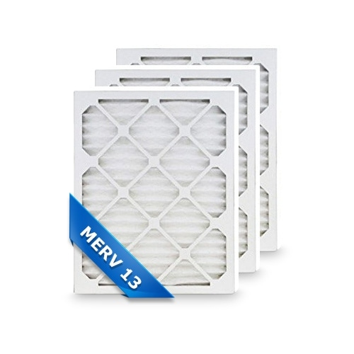 High Quality Pleated Furnace Air Filter 14x24x1 Merv 13 (3-Pack)