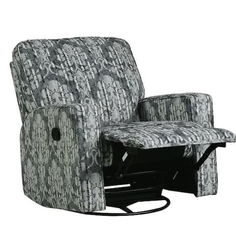 TiramisuBest Manual Recliner Chair 360° Swivel Rocking Chair,Linen