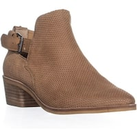 Dolce Vita Kara Perforated Ankle Boots, Saddle - 8.5 us