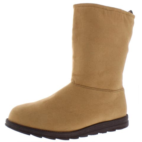 Muk Luks Womens Winter Boots Wool Lined Ankle - Tan - 11 Medium (B,M)