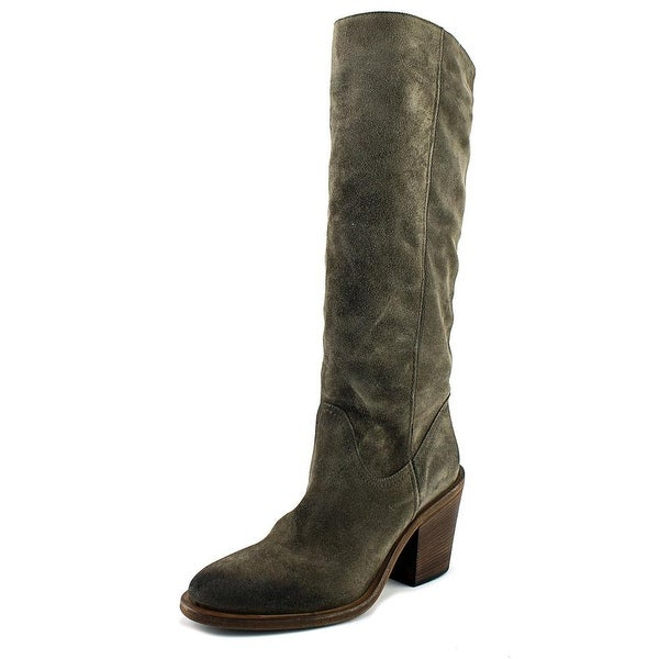 Vince Camuto Musa Women Round Toe Suede Brown Knee High Boot