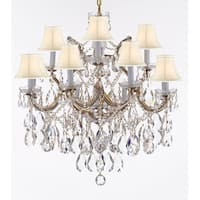 SW Crystal TM Chandelier With White Shades