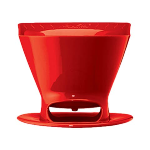 Melitta 64008 Pour Over Filter Cone - Red (Single-Pack) Pour Over Filter Cone