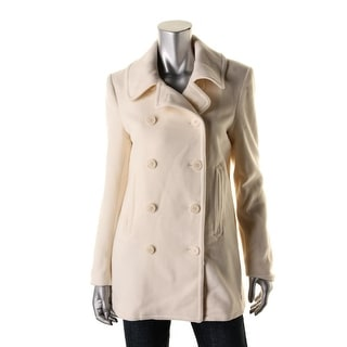 Ralph Lauren Womens Pea Coat Wool Blend Double-Breasted