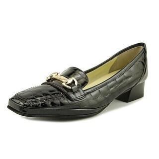 Amalfi By Rangoni Malta Women SS Round Toe Leather Black Loafer