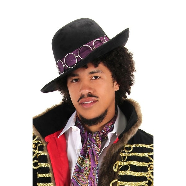 Jimi Hendrix Rockstar Adult Black Costume Hat
