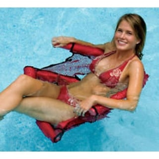 Water Sports Red Foam Noodle Fun Seat for the Swimming Pool
