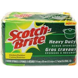- Scotch-Brite Heavy Duty Scrub Sponges 3/Pkg
