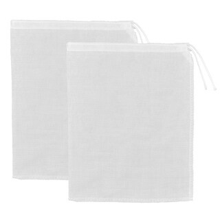 Home Kitchen Cotton Blends Coffee Soybean Milk Filter Bag White 27 x 23cm 2pcs