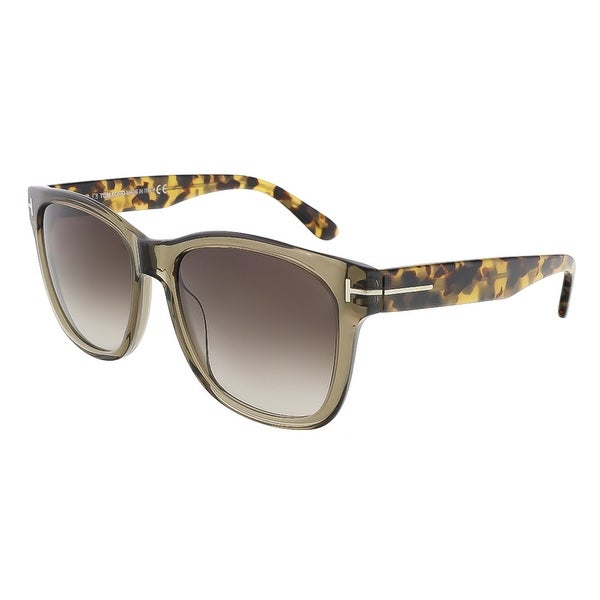 Tom Ford FT0395/S 34K Cooper Clear Olive Rectangle Sunglasses - clear olive - 57-17-145