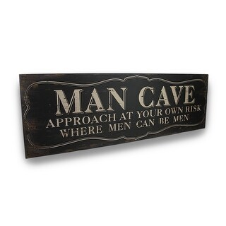 Wooden `Man Cave` Sign With Vintage Finish Wall Hanging 30 in.